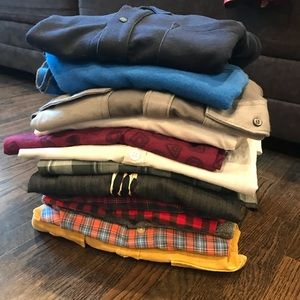 Big lot of button down men's shirts various brands